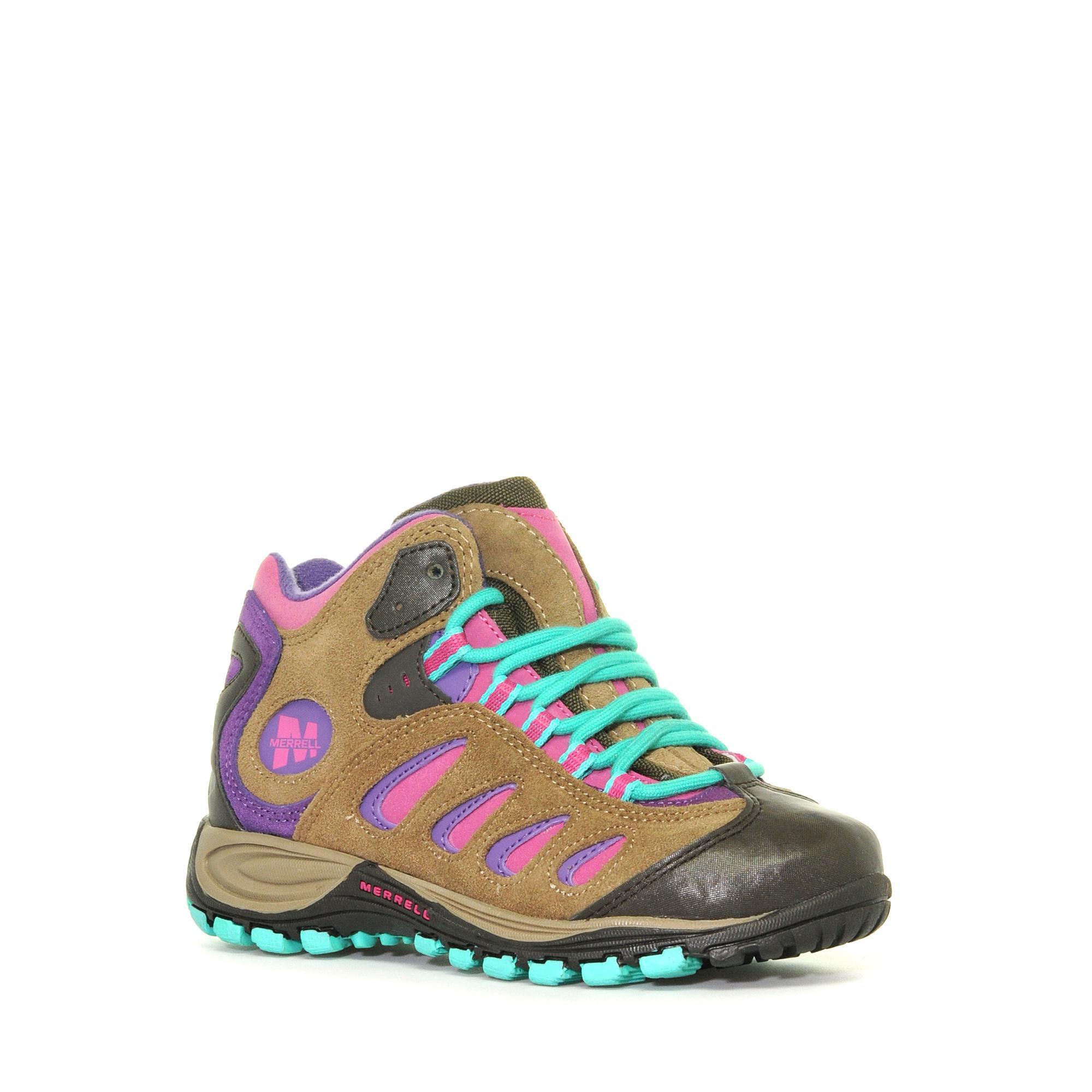 Merrell Girls' Reflex Mid Waterproof Shoe, Brown