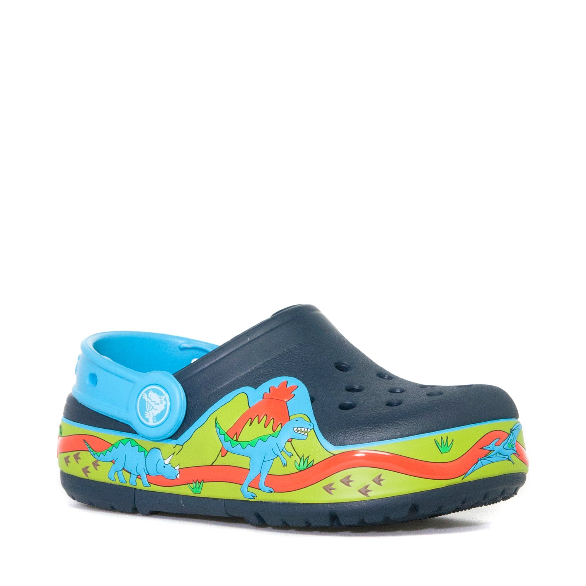 CROCS Kids' Crocslights Dinosaur Clog