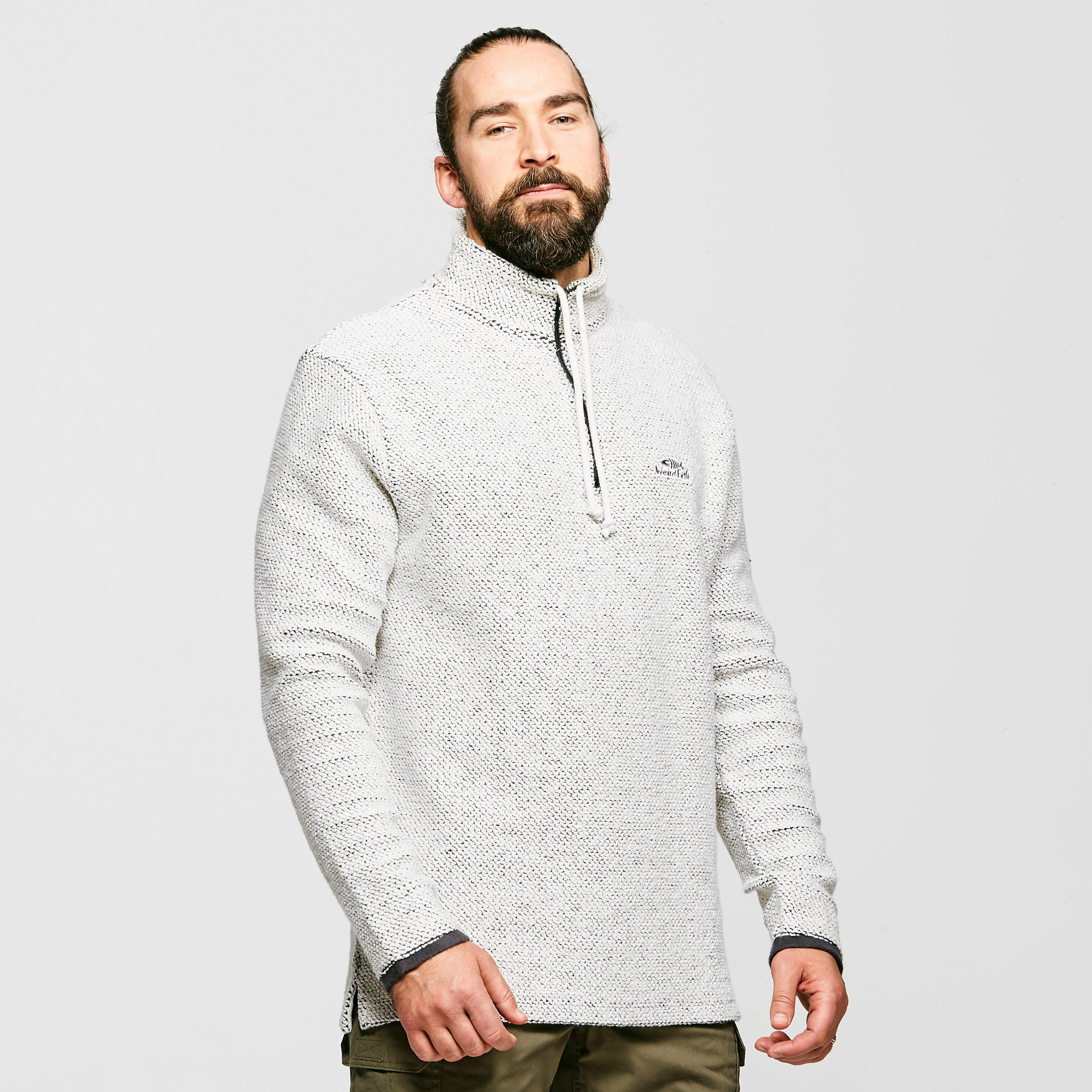 Weird Fish Mens Cruiser Quarter-zip Classic Macaroni Sweatshirt - Grey/grey  Grey/grey