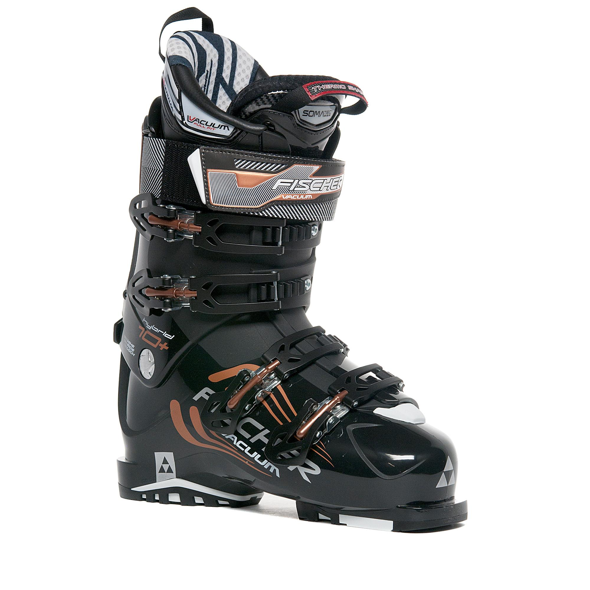 Fischer Sports Women's Hybrid 10+ Vacuum Ski Boot, Black