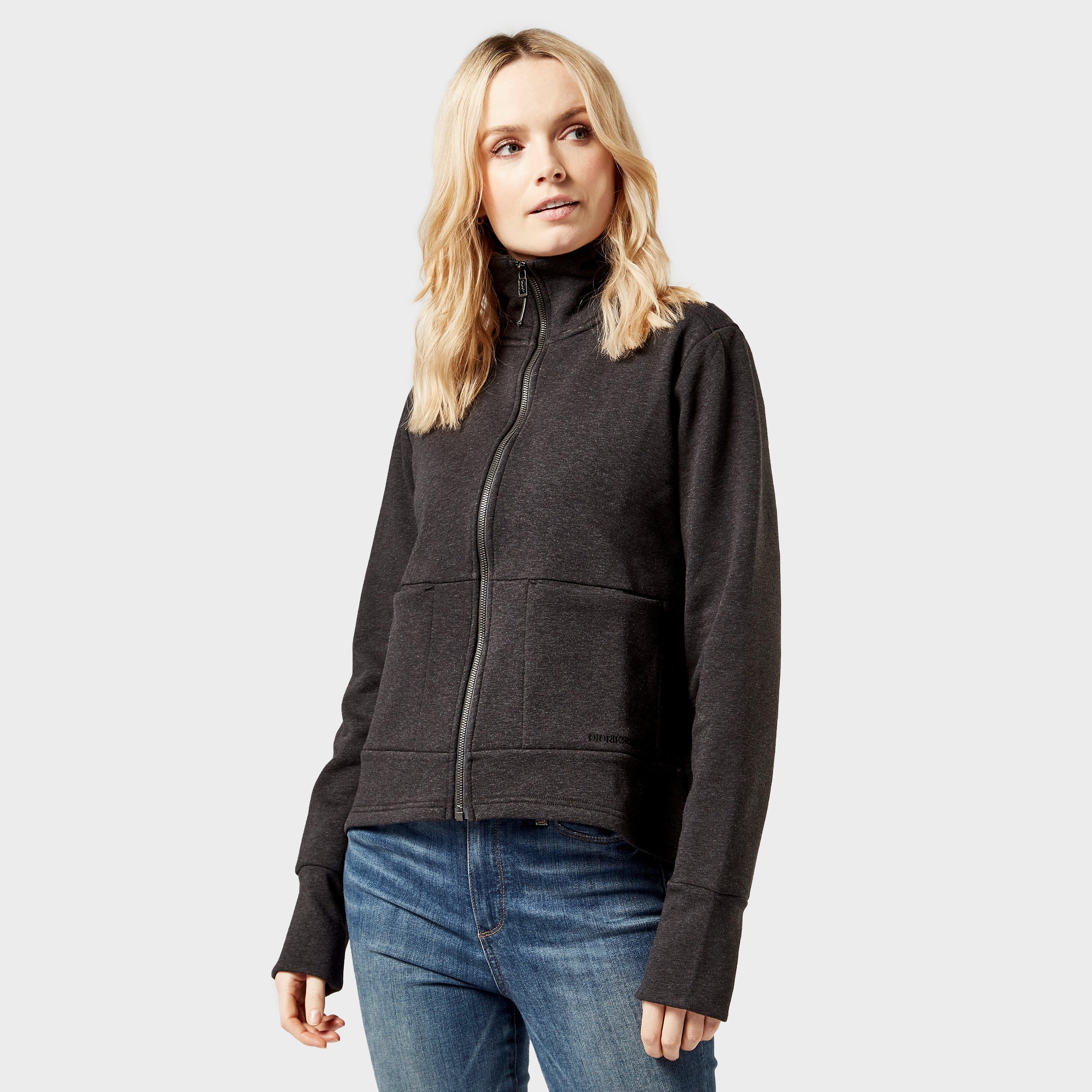 Didriksons Women's Mikaela Full-Zip Fleece, Black