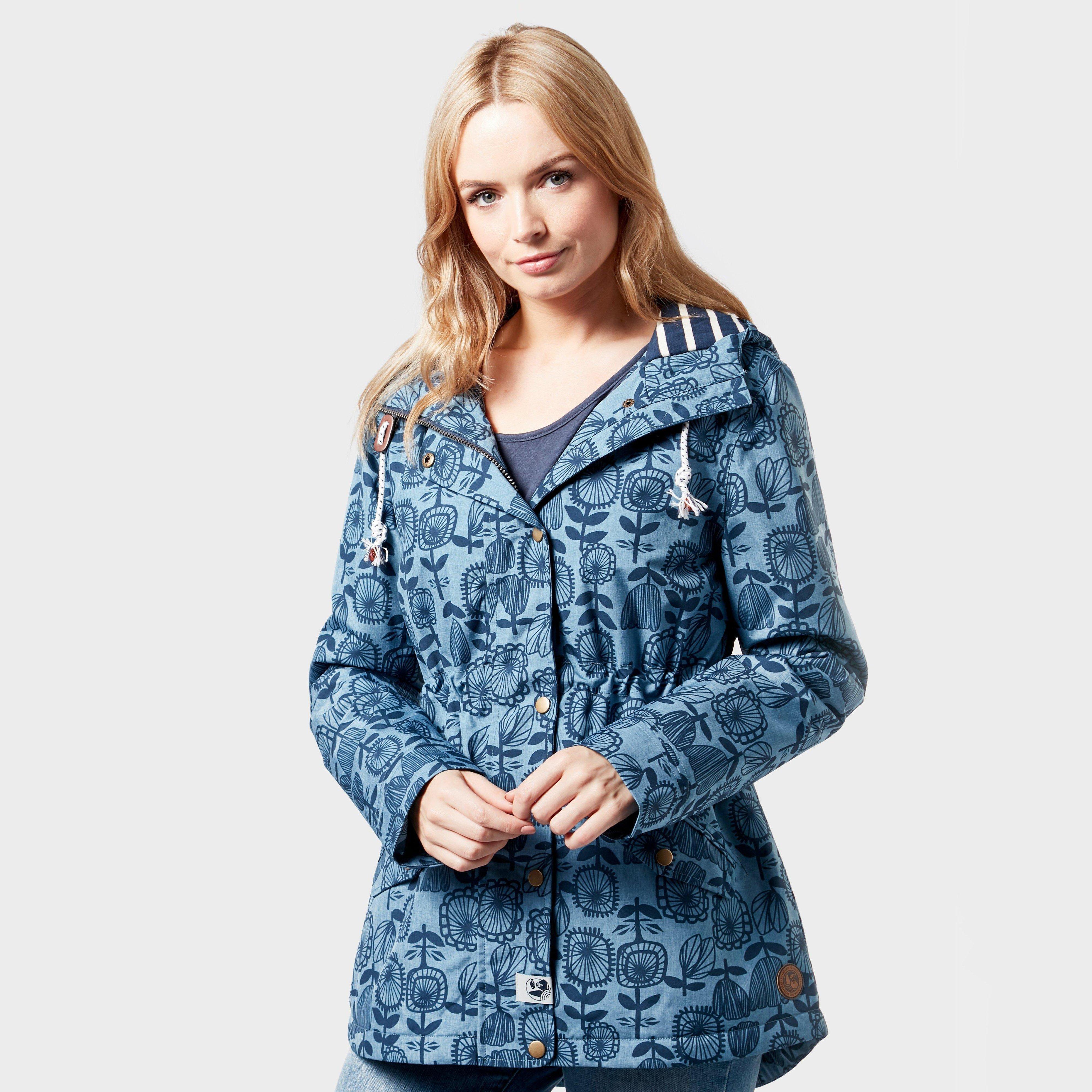 Weird Fish Women's Agnes Showerproof Jacket, Blue