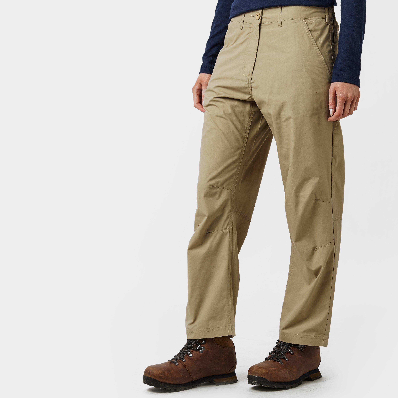 Peter Storm Womens Ramble Walking Trousers - Short - Beige/stn  Beige/stn