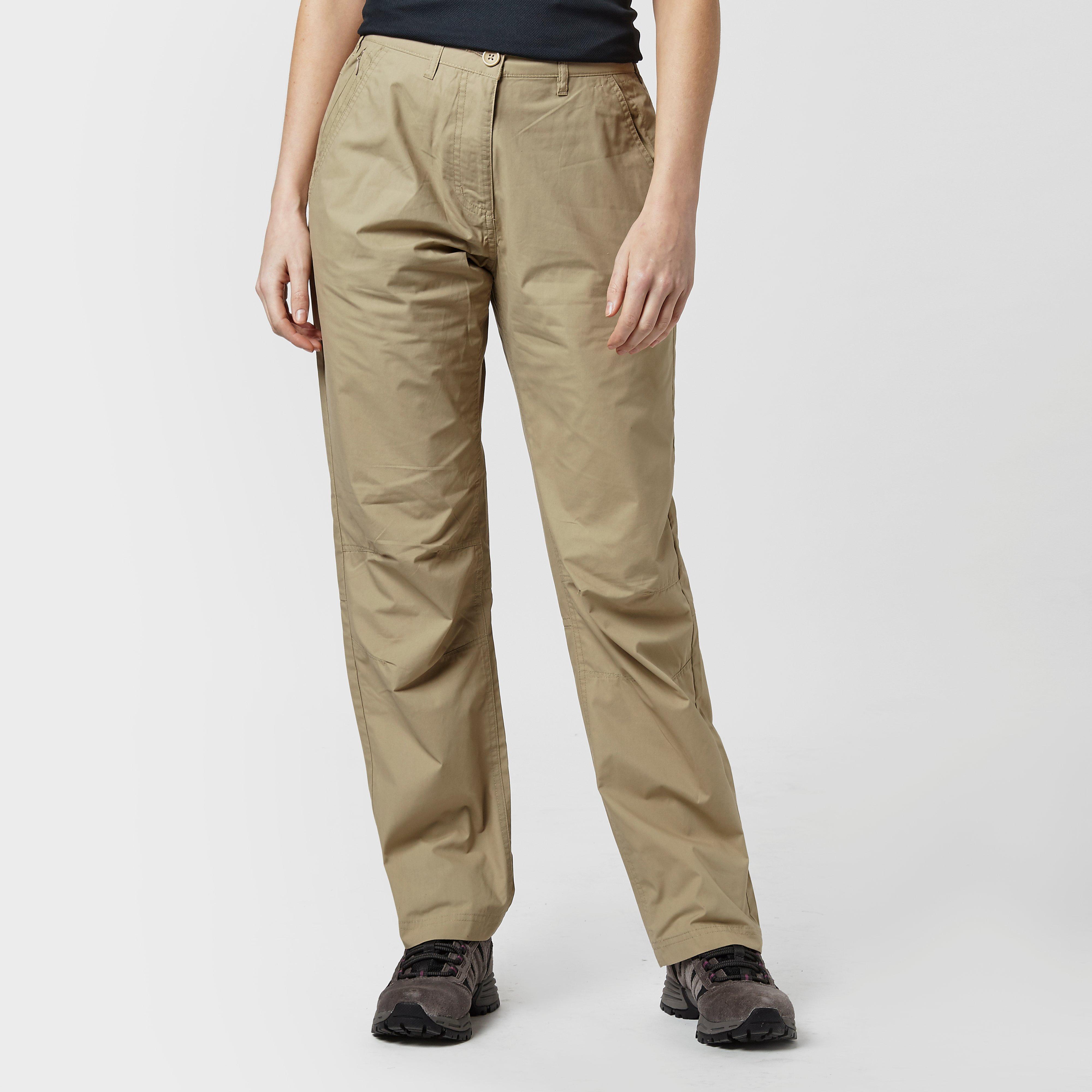 Peter Storm Womens Ramble Walking Trousers - Long - Beige/brown  Beige/brown