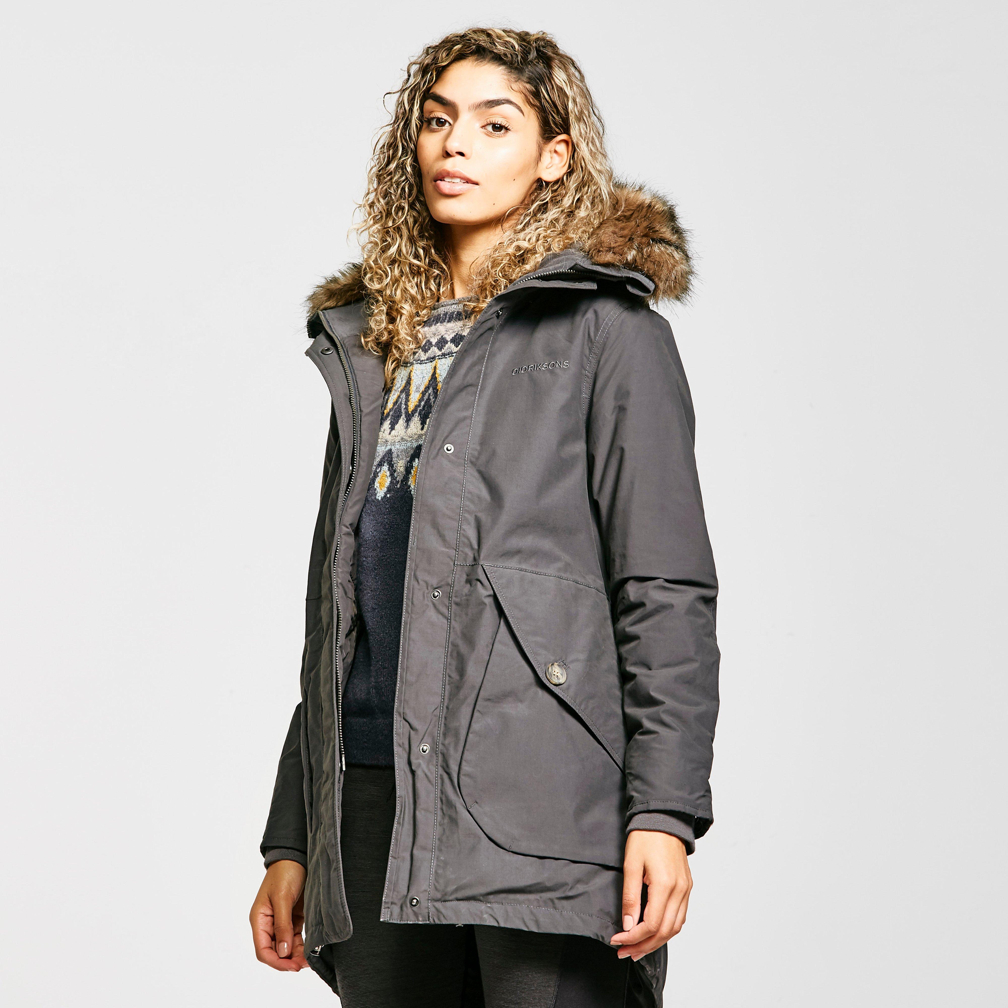 Didriksons Women's Angela Coat, Grey