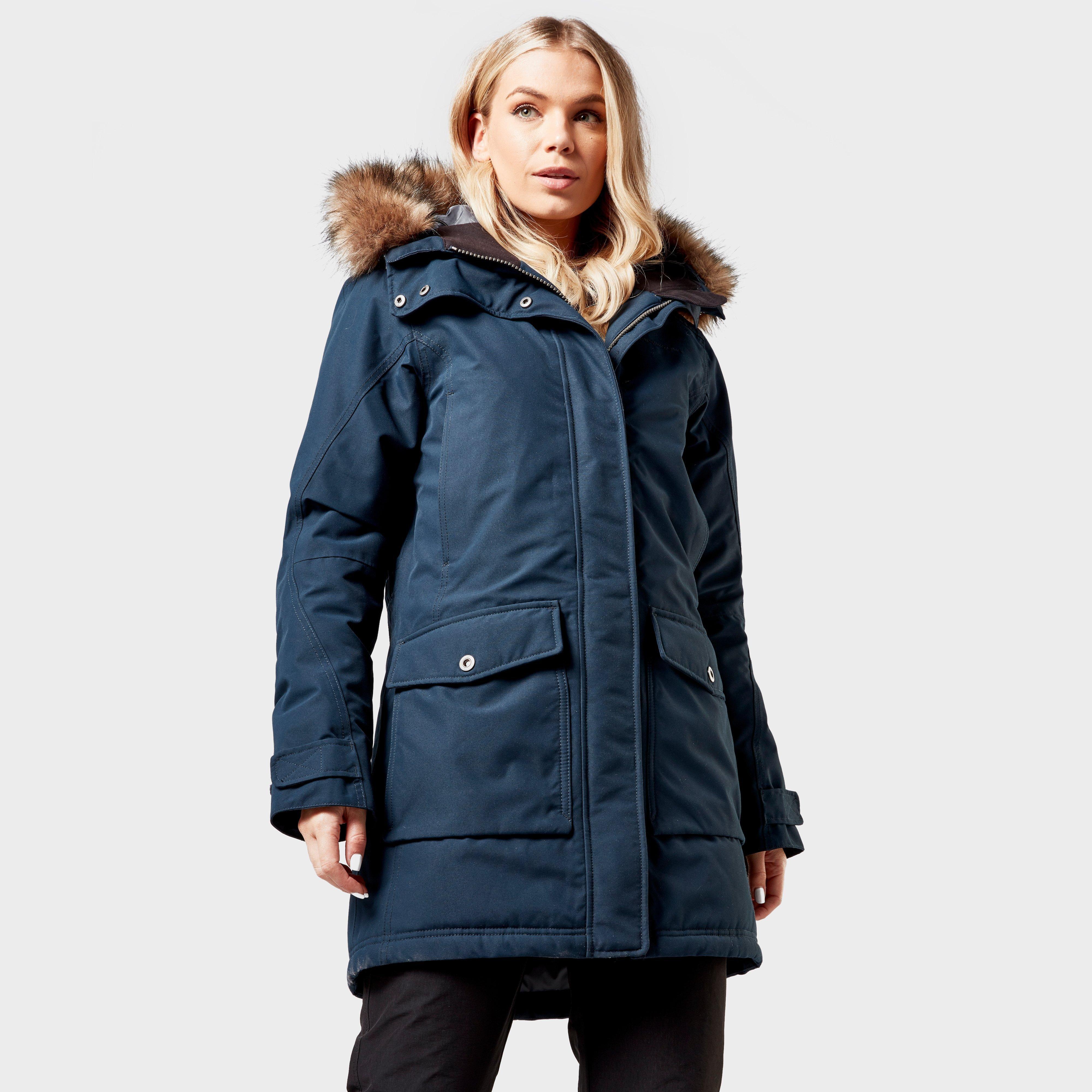 Didriksons Women's Vilda Waterproof Parka Coat, Navy