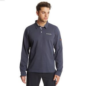 COLUMBIA Men's Fields Of Grey Long Sleeve Polo Shirt