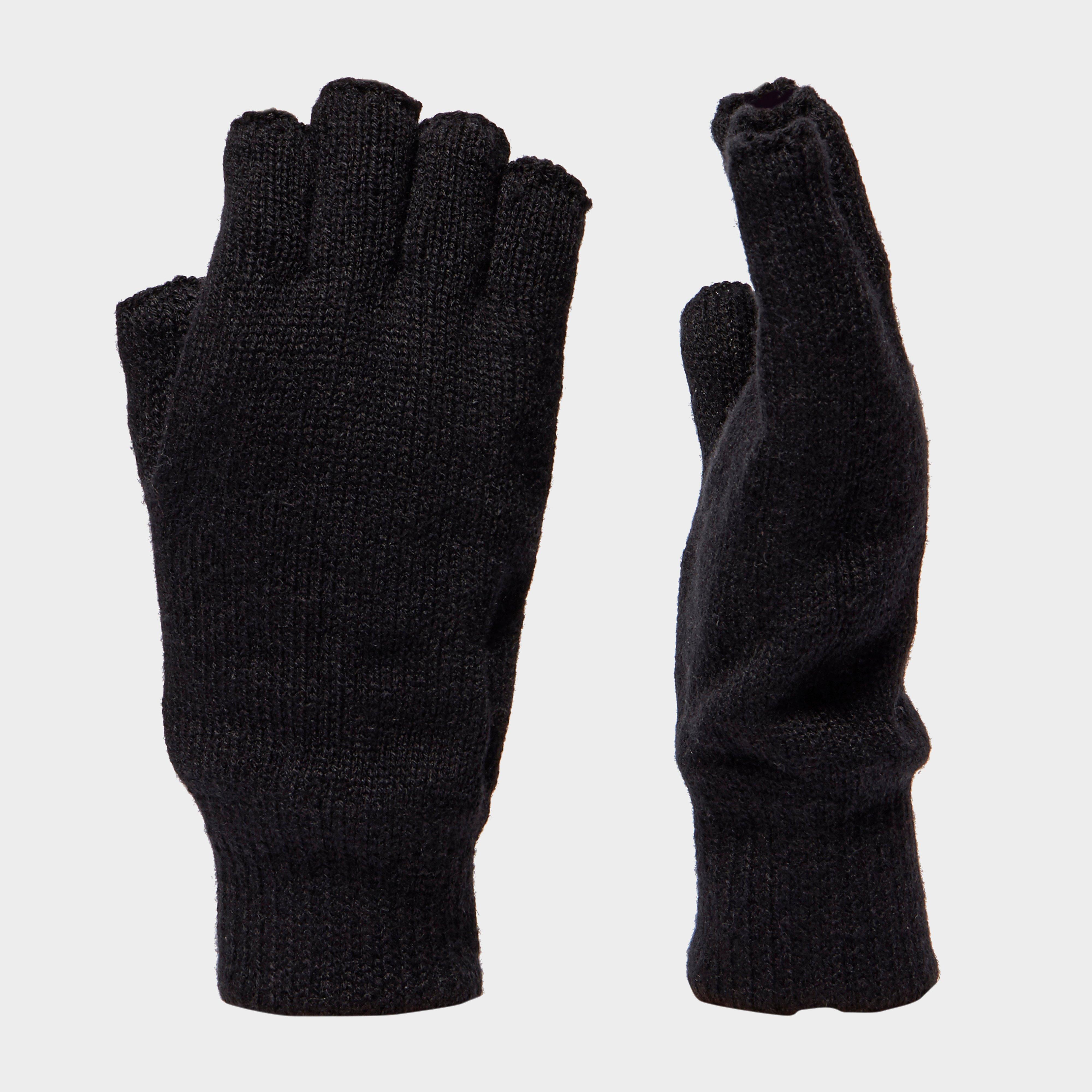 Peter Storm Thinsulate Fingerless Gloves - Black, Black