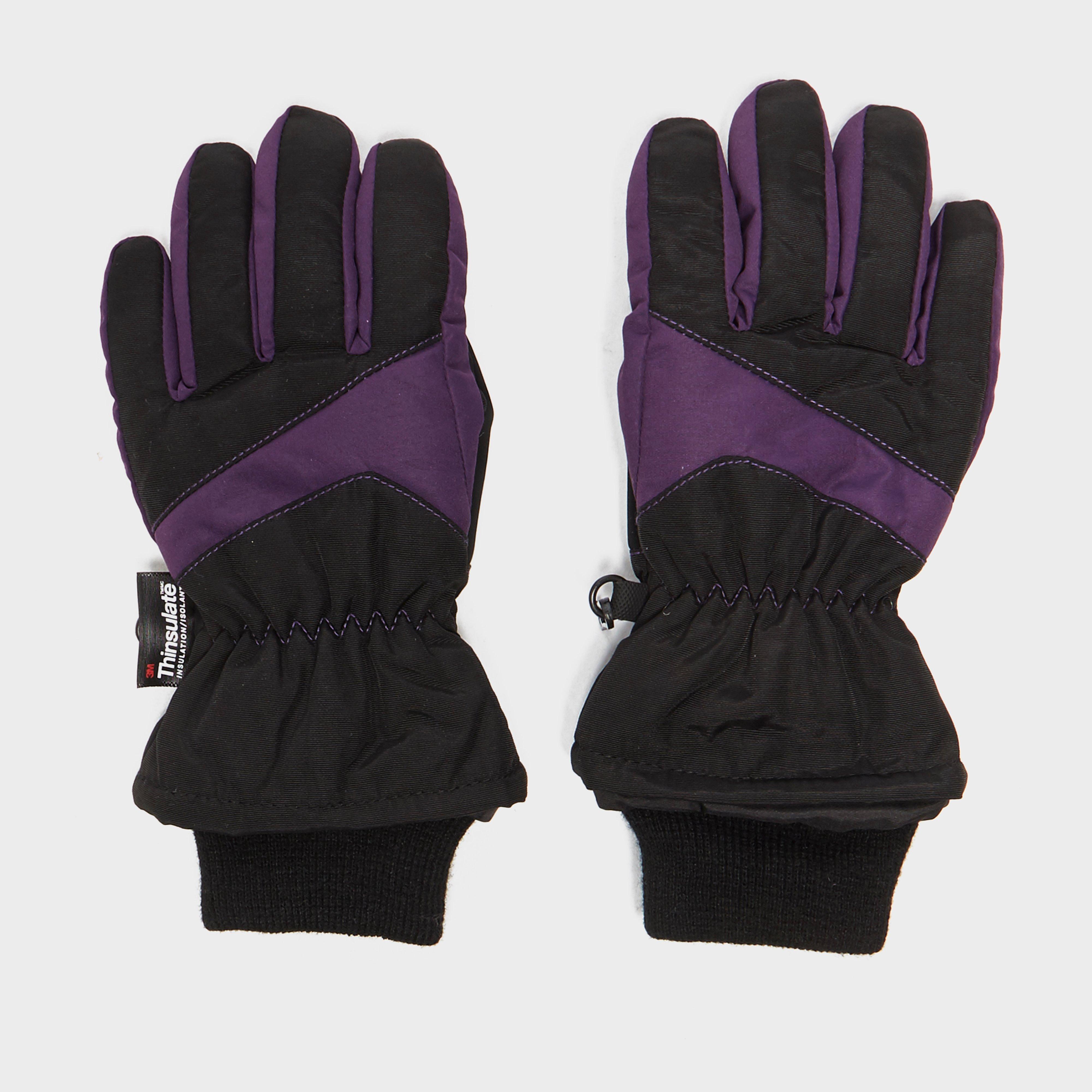 Alpine Boys Ski Gloves, Black