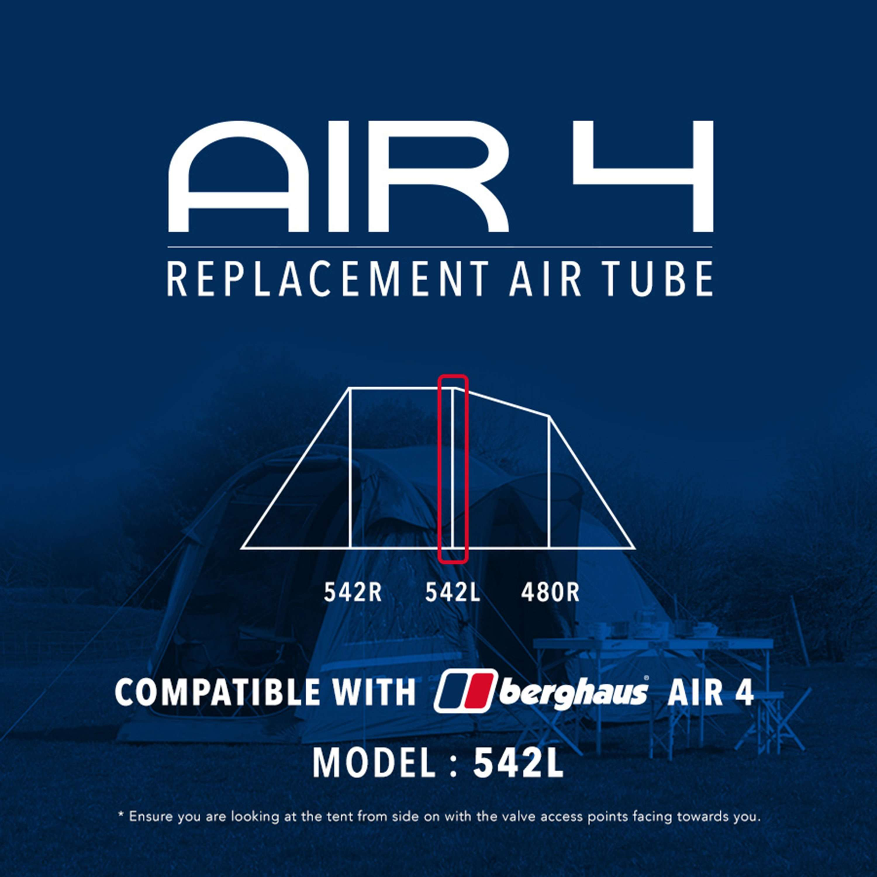 EUROHIKE Air 4 Tent Replacement Air Tube - 542L