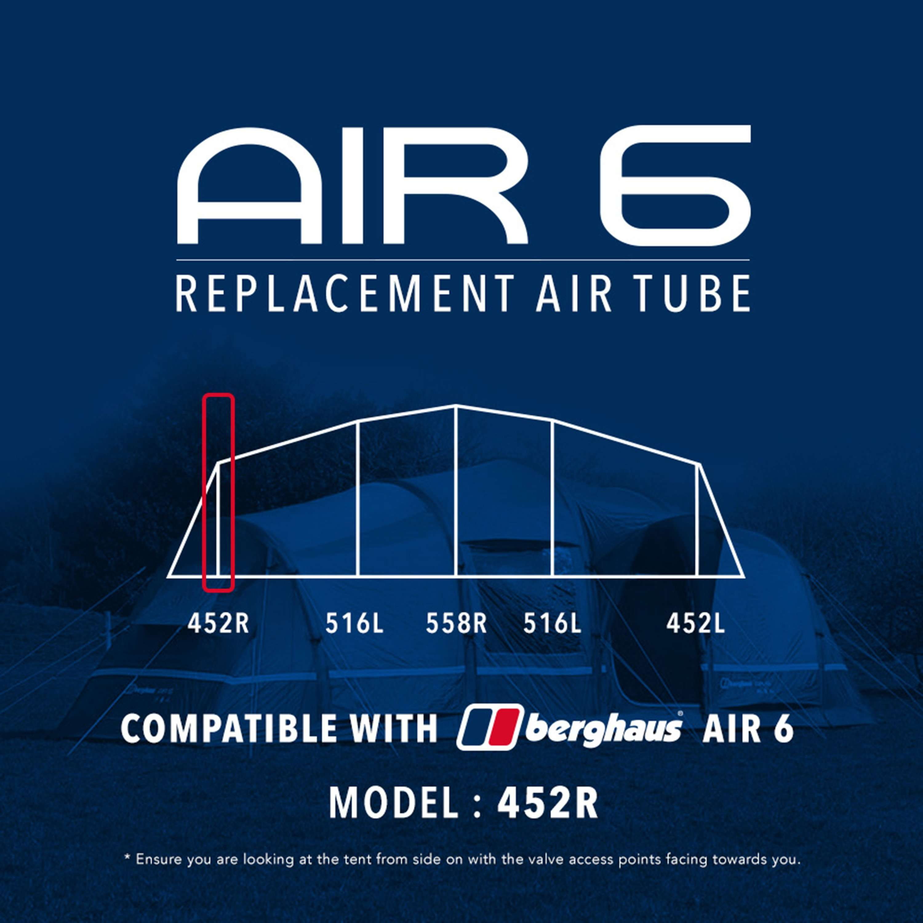 EUROHIKE Air 6 Tent Replacement Air Tube - 452R