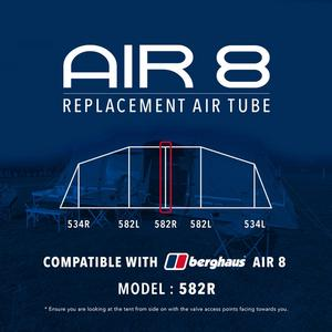 EUROHIKE Air 8 Tent Replacement Air Tube - 582R
