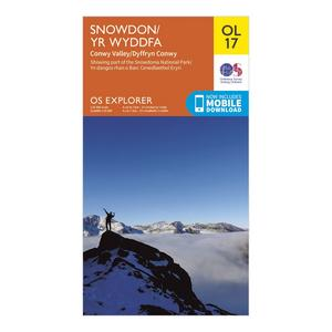 ORDNANCE SURVEY OL 17 Explorer Snowdon Map