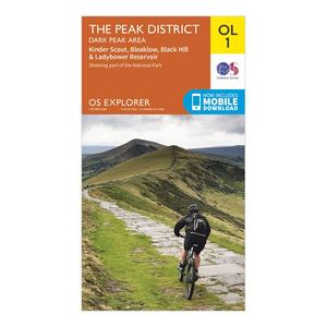 ORDNANCE SURVEY Explorer OL 1 The Peak District - Dark Peak Area