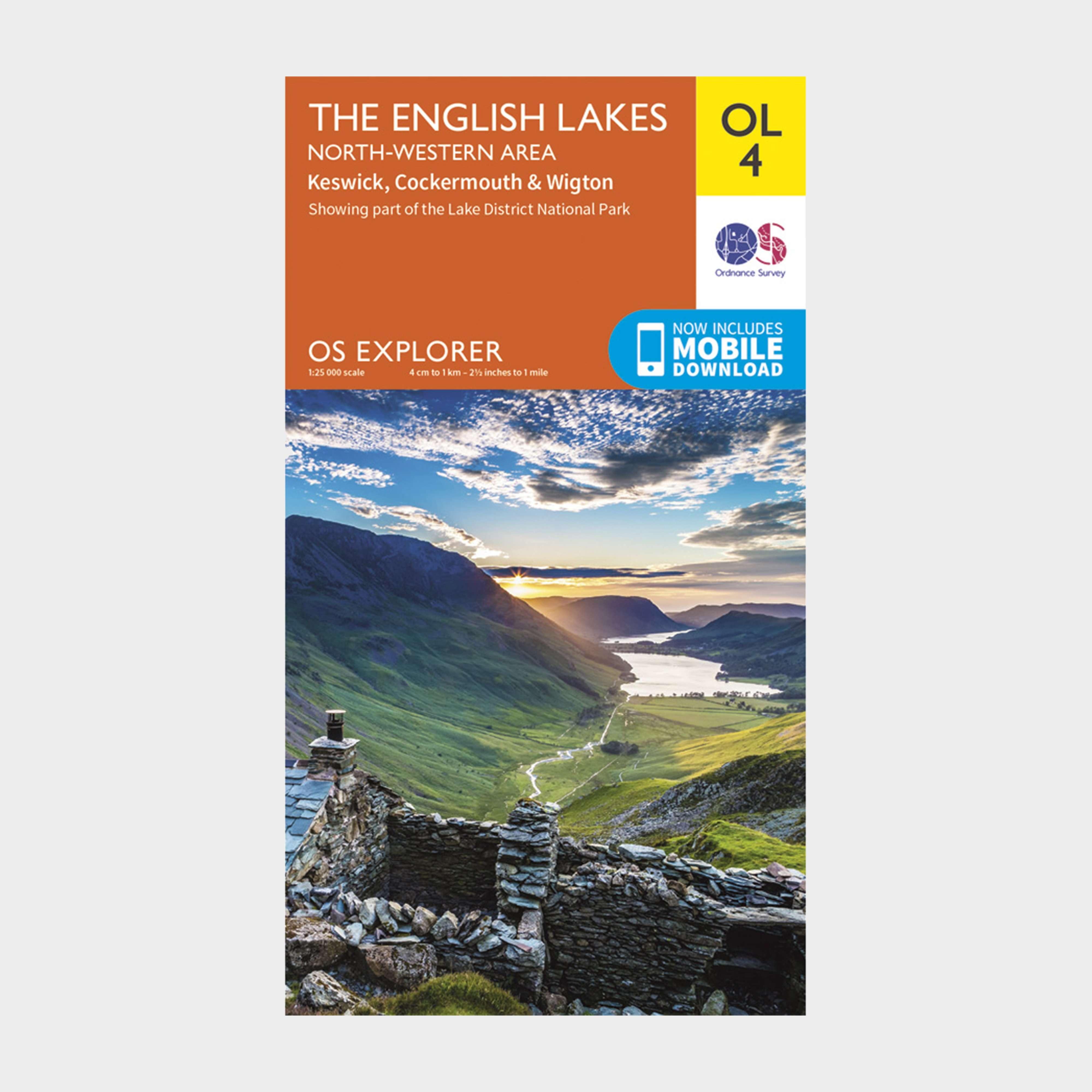 ORDNANCE SURVEY Explorer OL 4 The Lake District: North-western area
