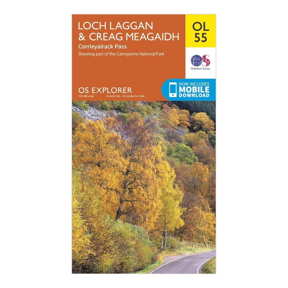 Ordnance Survey Ol 55 Explorer Loch LagganandCreag Meagaidh Map - Orange/d  Orange/d