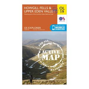 ORDNANCE SURVEY OL 19 Explorer Howgill Fells and Upper Eden Valley Active Map