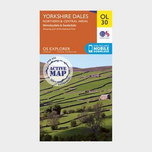 ORDNANCE SURVEY OL 30 Explorer Yorkshire Dales - Northern & Central Area Active Map
