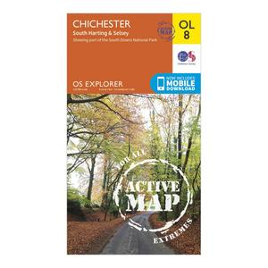 ORDNANCE SURVEY Explorer Active OL 8 Chichester Map