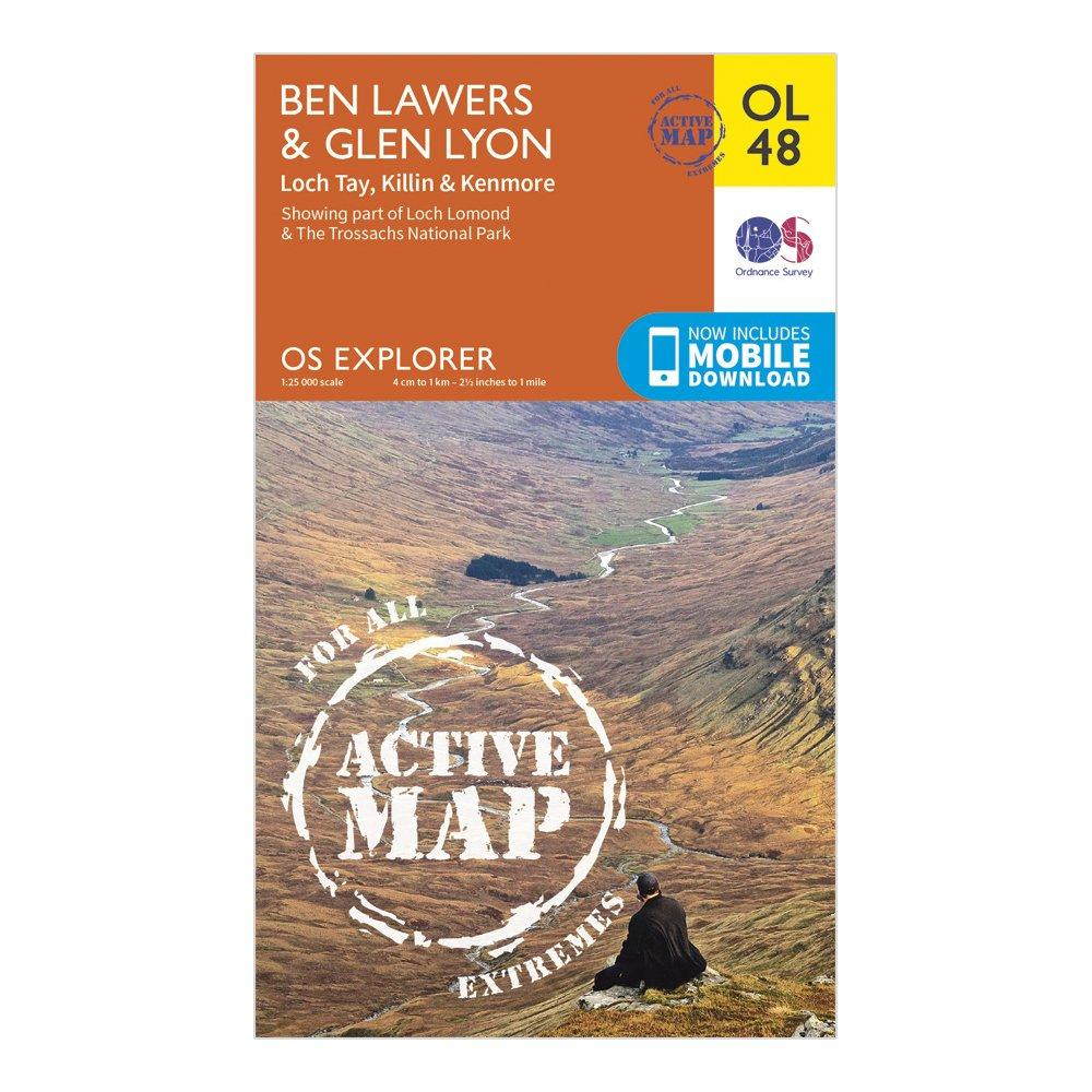 Ordnance Survey Active Explorer Ol 48 Ben LawersandGlen Lyon Map - Orange/d  Orange/d