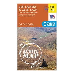 ORDNANCE SURVEY Active Explorer OL 48 Ben Lawers & Glen Lyon Map