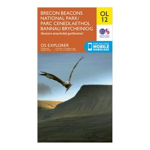 ORDNANCE SURVEY Explorer OL 12 Brecon Beacons National Park - Western & Central Areas Map