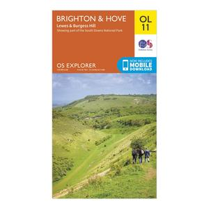 ORDNANCE SURVEY Explorer OL 11 Brighton & Hove Map