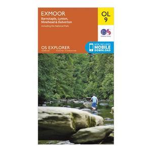 ORDNANCE SURVEY Explorer OL 9 Exmoor Map