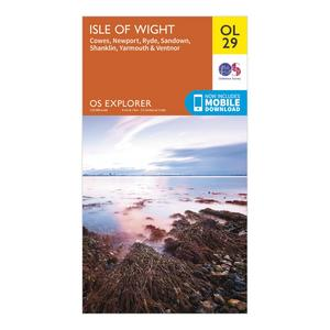 ORDNANCE SURVEY Explorer OL 29 Isle of Wight Map