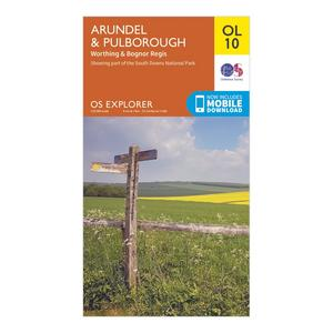 ORDNANCE SURVEY Explorer OL 10 Arundel & Pulborough Map