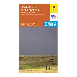 ORDNANCE SURVEY Explorer OL 33 Haslemere & Petersfield Map
