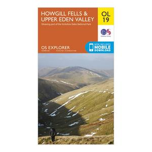 ORDNANCE SURVEY Explorer OL19 Howgill Fells & Upper Eden Valley Map
