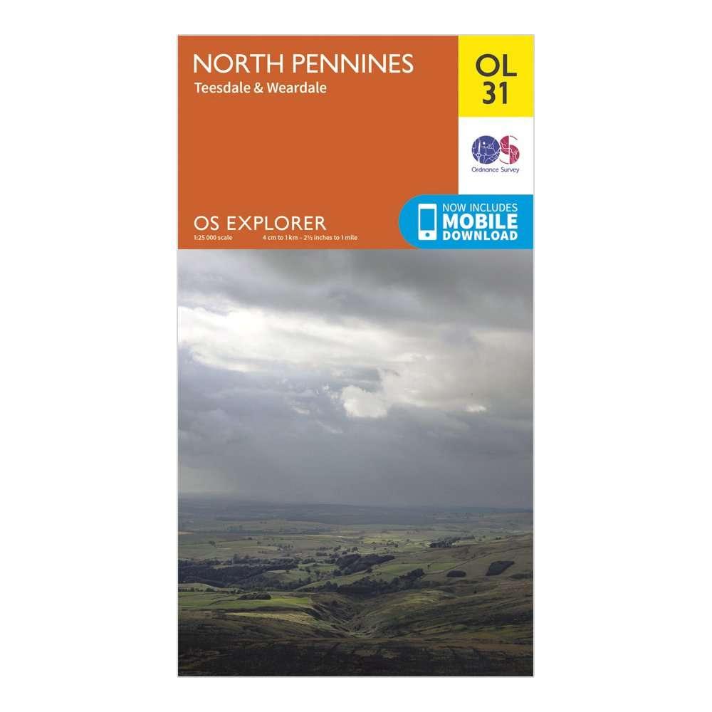 ORDNANCE SURVEY Explorer OL 31 North Pennines - Teesdale & Weardale Map