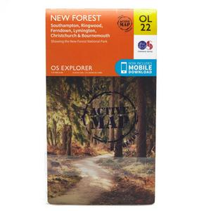 ORDNANCE SURVEY Explorer Active OL 22 New Forest Map