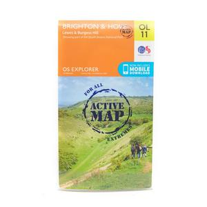 ORDNANCE SURVEY Explorer Active OL 11 Brighton & Hove Map