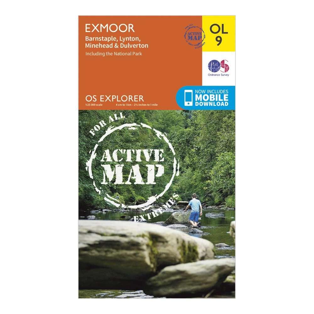 ORDNANCE SURVEY Explorer Active OL 9 Exmoor Map