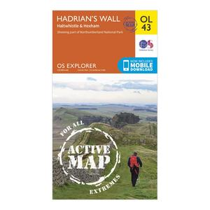ORDNANCE SURVEY Explorer Active OL 43 Hadrian's Wall Map