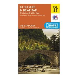 ORDNANCE SURVEY Explorer OL 52 Glen Shee & Braemar Map