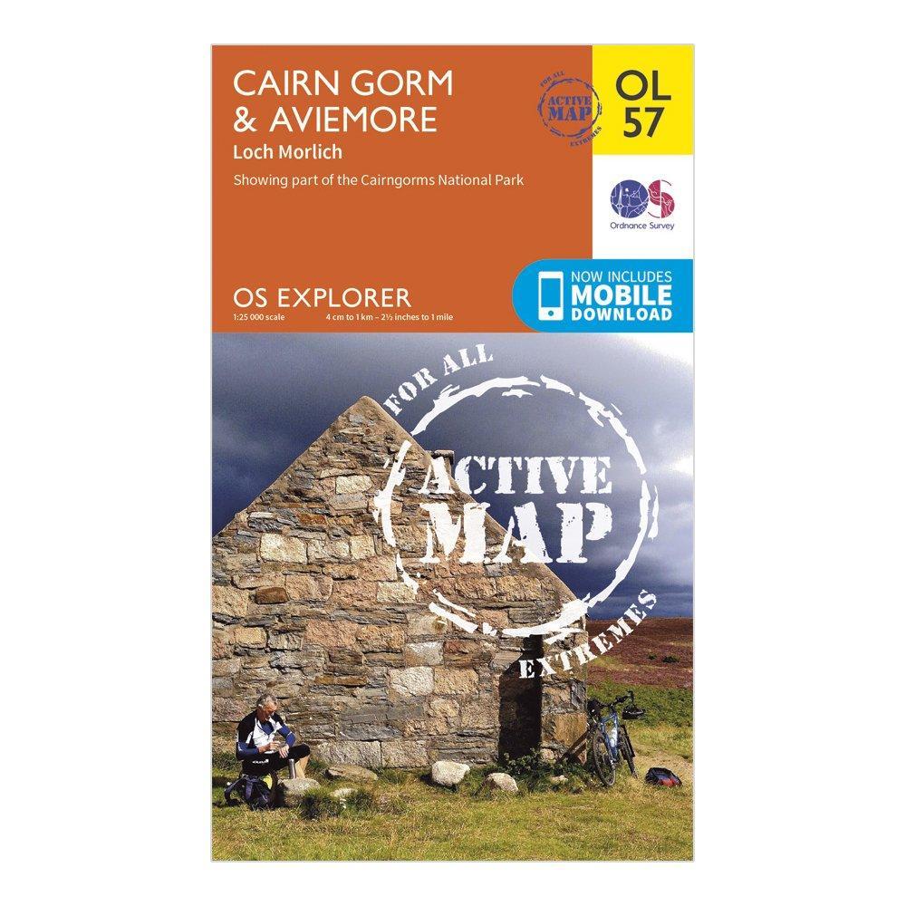 Ordnance Survey Explorer Active Ol 57 Cairn GormandAviemore Map - Orange/d  Orange/d