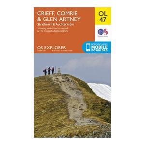 ORDNANCE SURVEY Explorer OL 47 Crieff, Comrie & Glen Artney Map