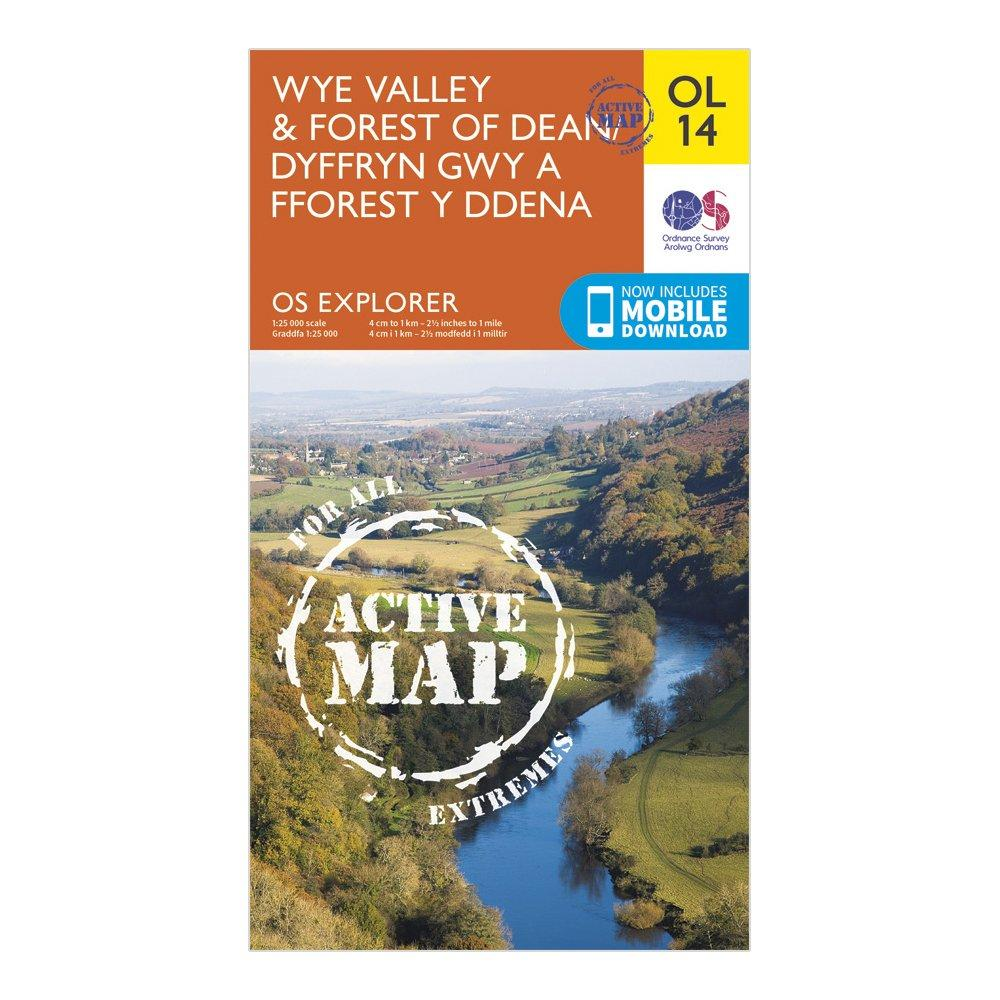Ordnance Survey Explorer Active Ol 14 Wye ValleyandForest Of Dean Map - Orange/d  Orange/d