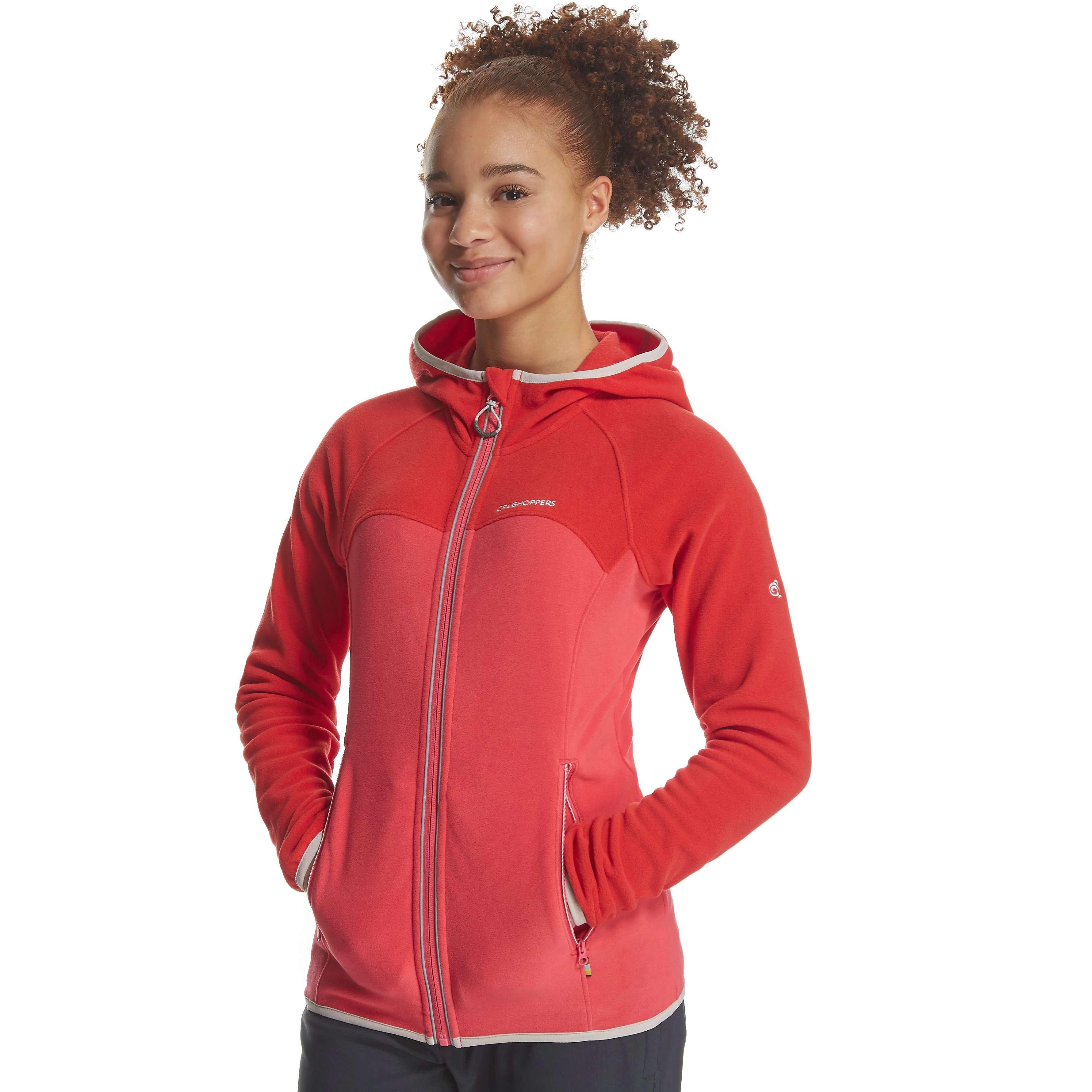 CRAGHOPPERS Girl's Ionic II Hooded Fleece Jacket