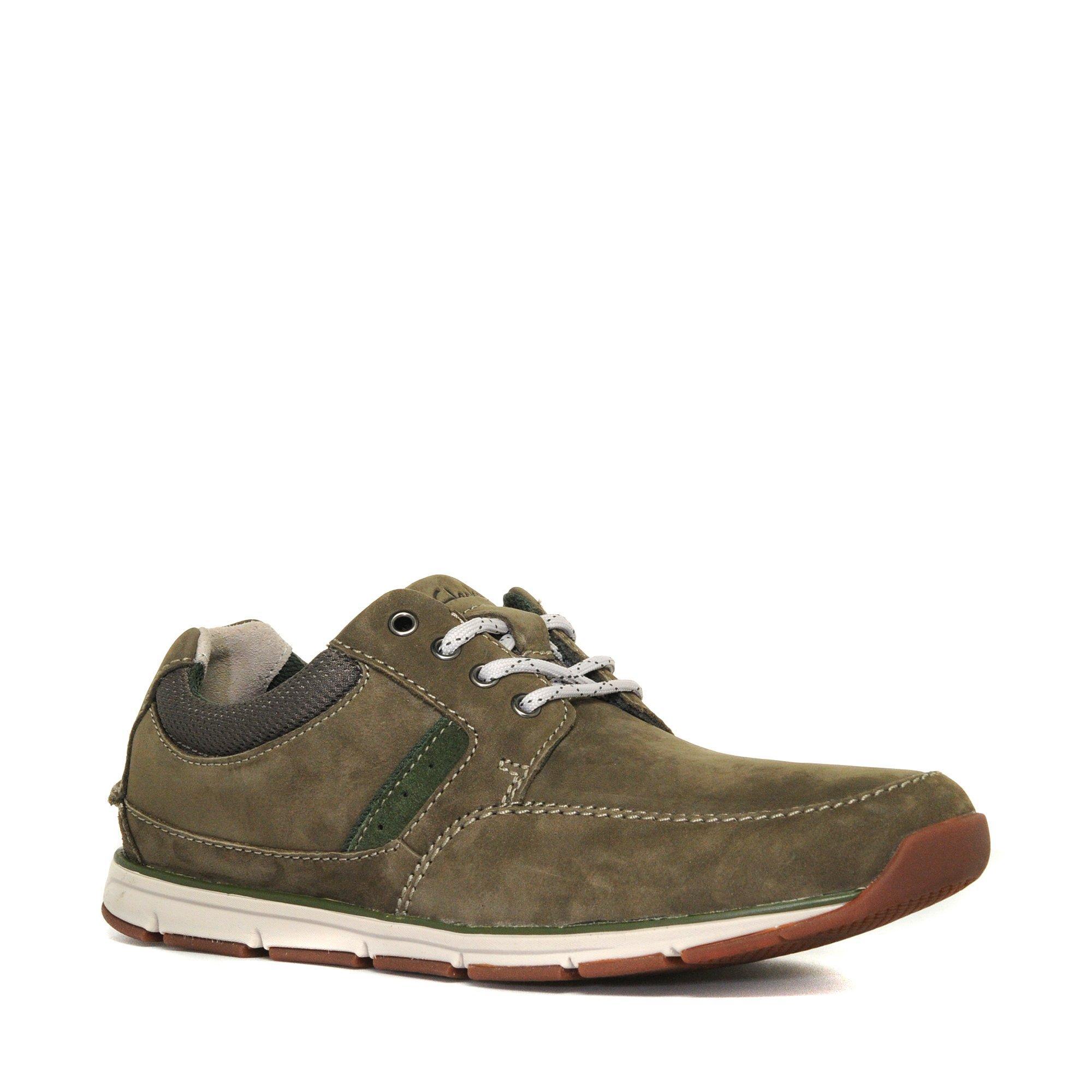 Clarks Mens Beachmont Edge Casual Shoes Khaki