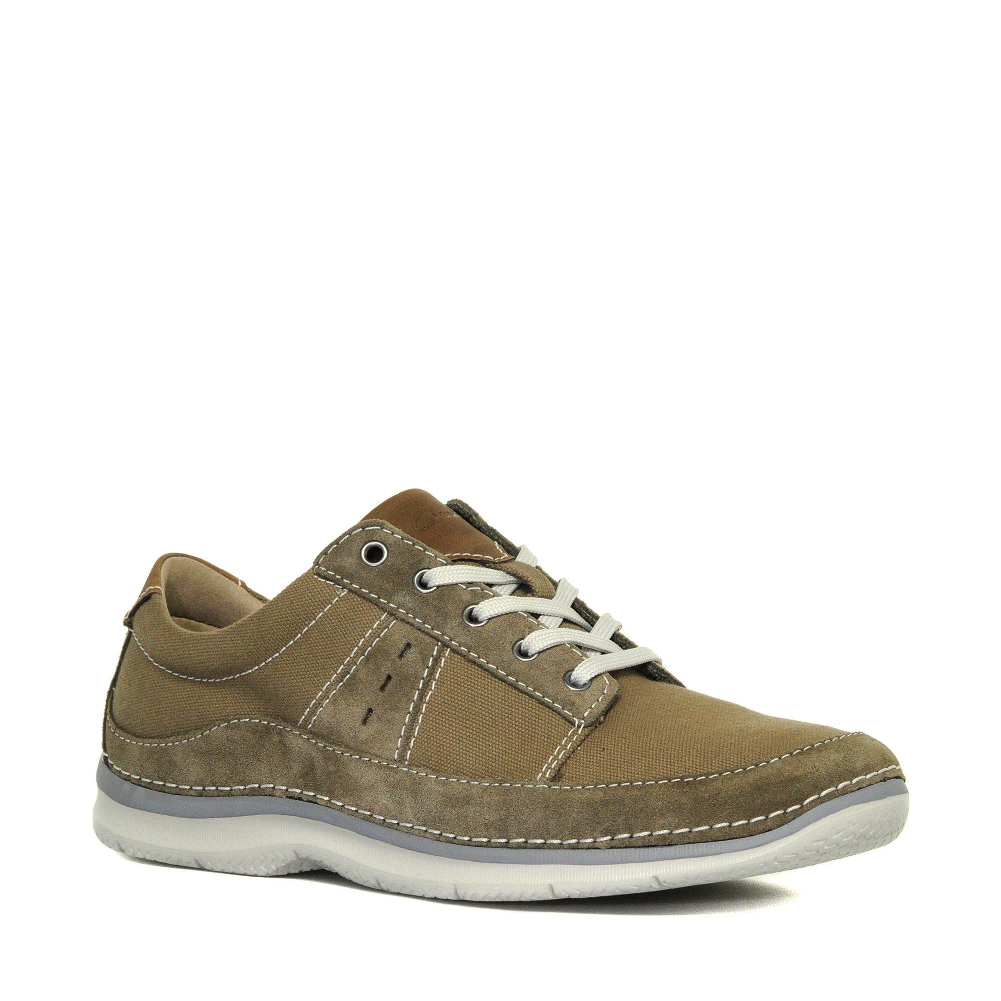 Clarks Mens Ripton Plain Casual Shoes Khaki