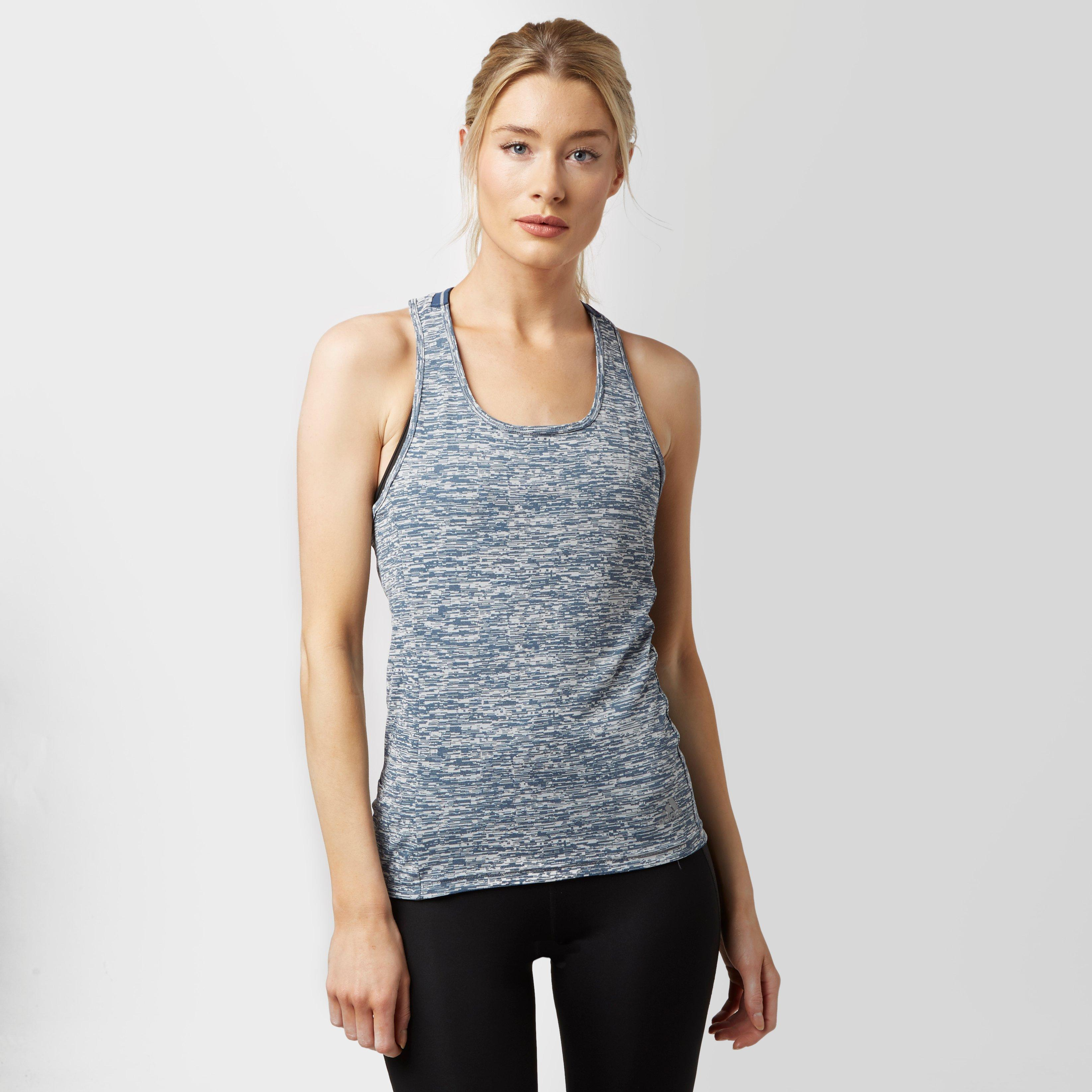 Adidas Womens Supernova Fitted Tank Top Blue