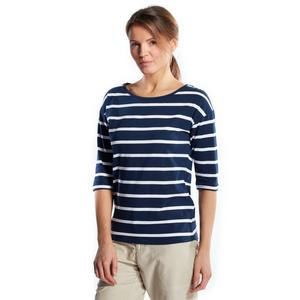 BRAKEBURN Women's Nautical Stripe 3/4 T-Shirt