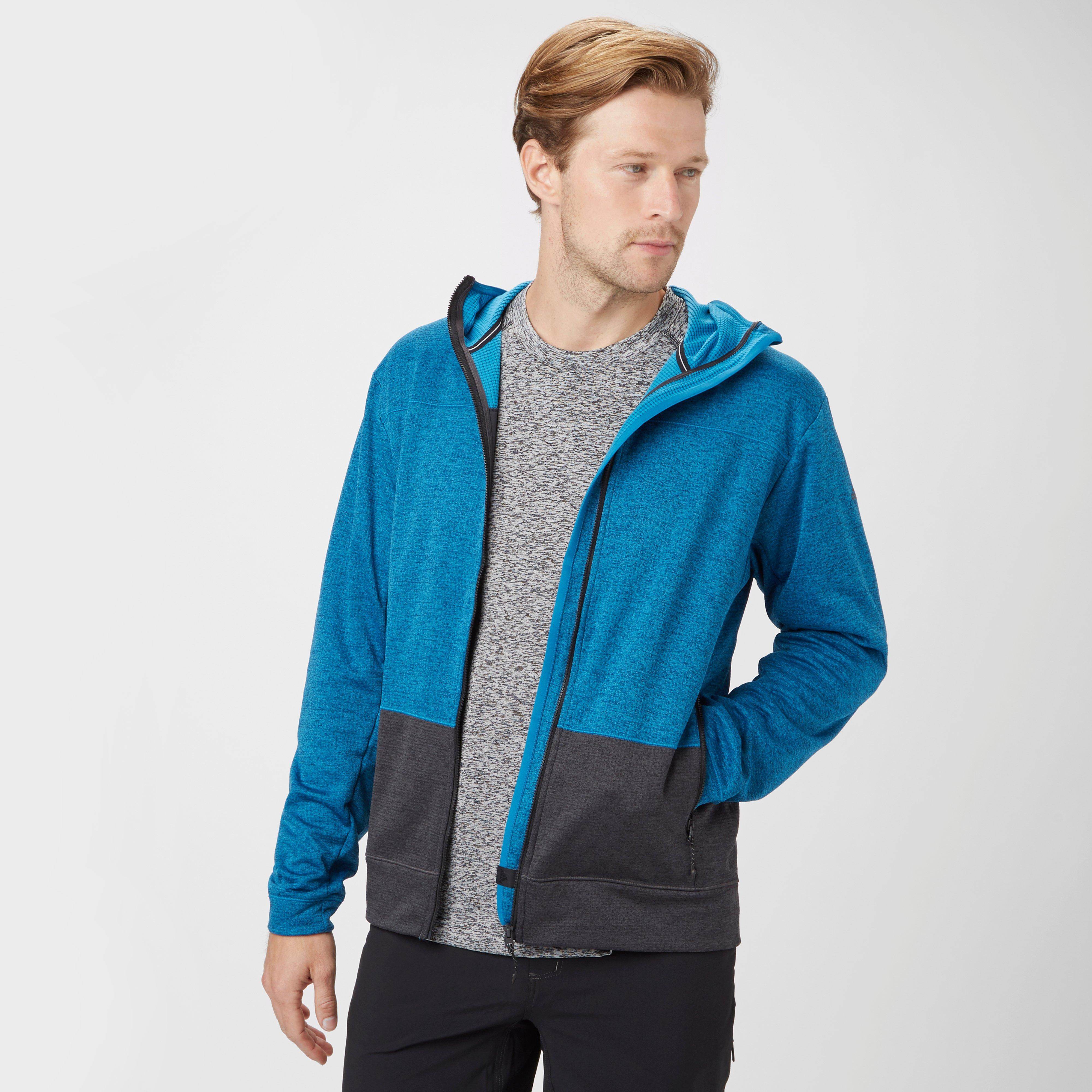 Adidas Mens Lissom Fleece Hoodie Blue