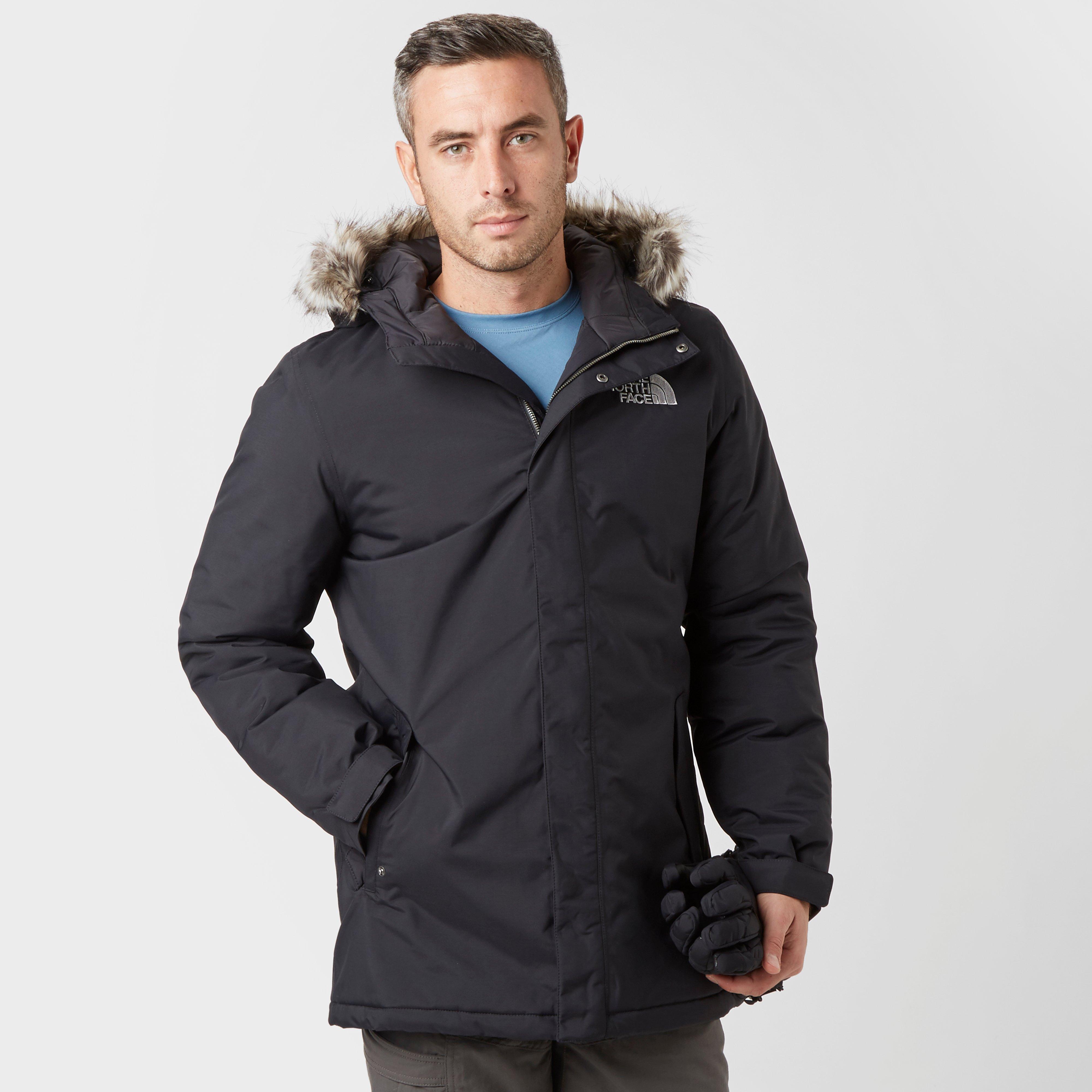 The North Face Mens Zaneck Faux Fur Hooded Parka Black