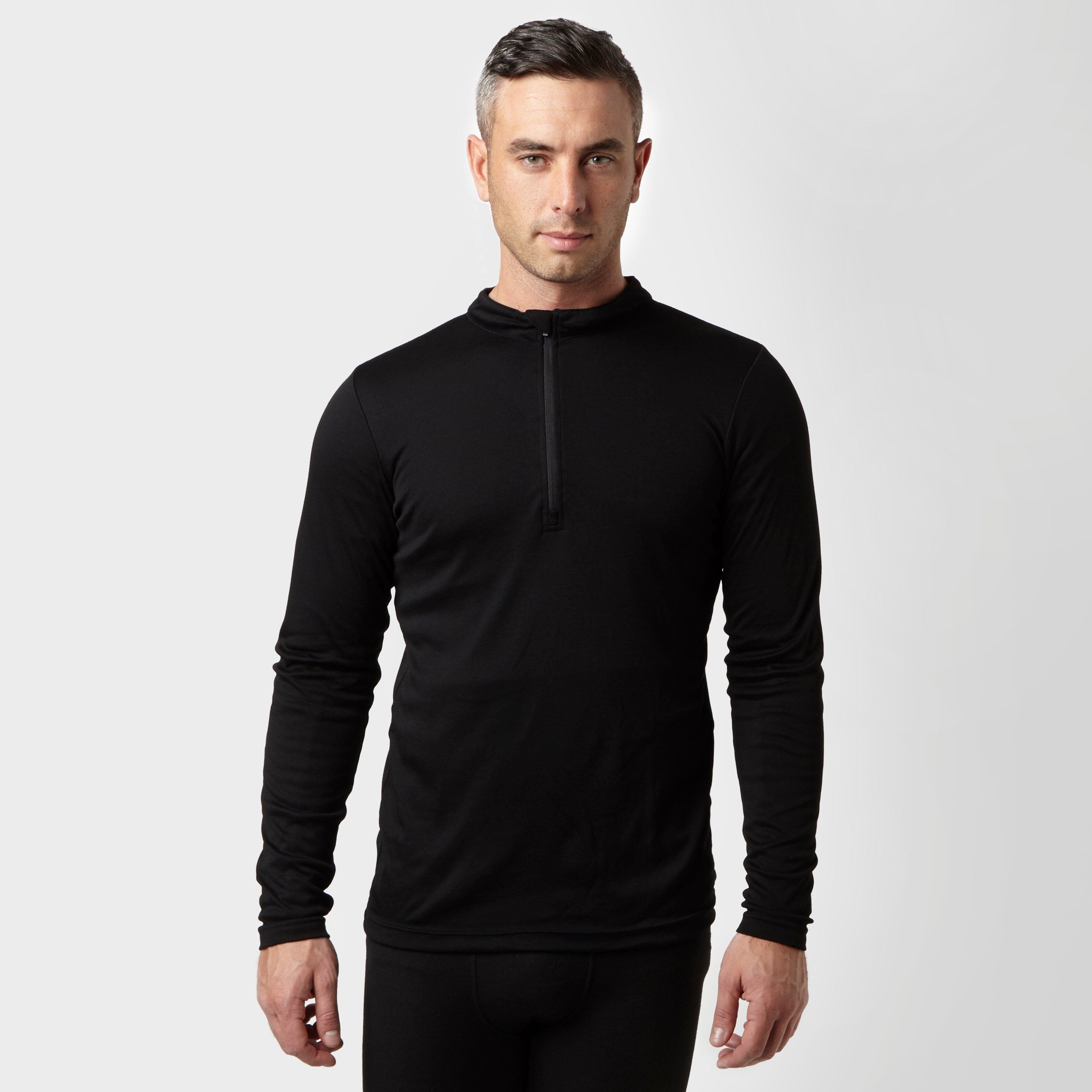 Peter Storm Mens Long Sleeve Thermal Zip Baselayer - Black/blk  Black/blk