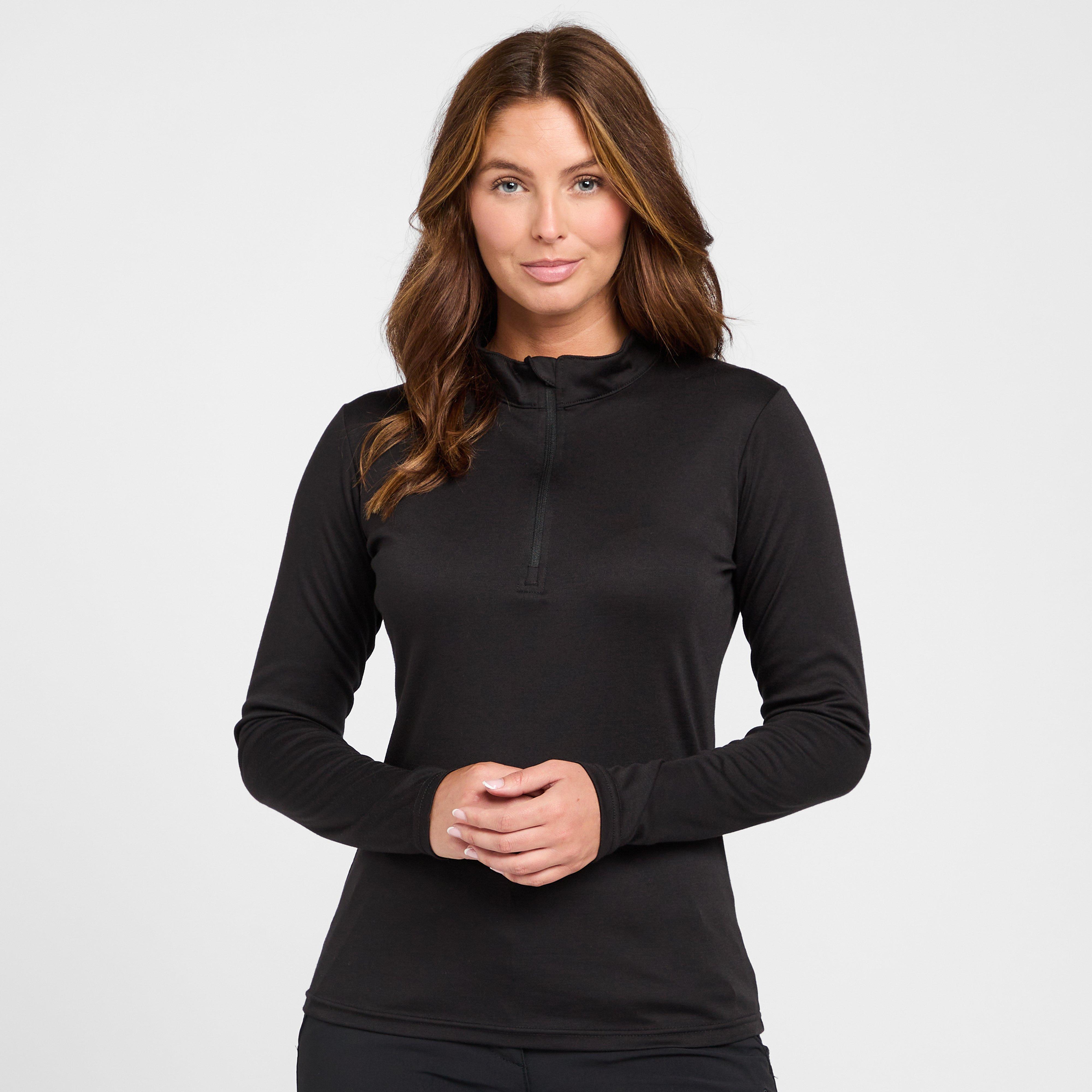 Peter Storm Womens Long Sleeve Thermal Crew Baselayer - Black/blk  Black/blk